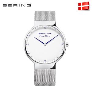 Bering白令手表女时尚潮流男 安赛龙联名定制钢带防水石英表