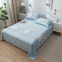 全棉床单单件少女双人学生宿舍单人床纯棉被单1.5m1.8米斜纹纯棉布料被单
