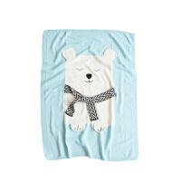 婴儿毯子针织盖毯春秋毛毯空调被宝宝抱毯儿童毯幼儿园推车毯