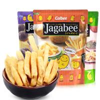 Calbee卡乐B宅卡B原味薯条90g 香港进口jagabee卡乐比三兄弟膨化