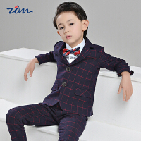 男童宝宝钢琴演出服英伦风花童礼服儿童西服男春季新款小西装套装