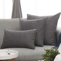 沙发抱枕靠垫客厅大号家用现代欧式简约不含芯亚麻色抱枕套靠枕T