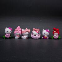 全套hello kitty凯蒂猫公仔模型车载摆件玩具情人节礼物 SN1820