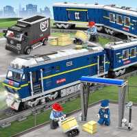 儿童电动火车积木拼装玩具益智力动脑�犯吡谐迪盗行】帕D泻⑴�孩