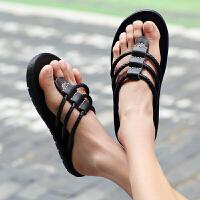 夏季韩版潮流拖鞋男人字拖个性防滑时尚外穿沙滩男士凉拖凉鞋夏天