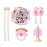 婴儿玩具摇铃组合套装宝宝手拍鼓6个月拍拍鼓手摇铃乐器安抚玩具