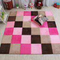 卧室儿童地毯拼接铺地板垫子加厚泡沫地垫满铺绒面拼图客厅榻榻米
