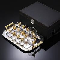 十二生肖白酒杯分酒器套装家用水晶玻璃小酒杯烈酒杯中式复古酒具SN1687