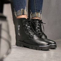 O'SHELL欧希尔新品060-932欧美平跟女士短靴