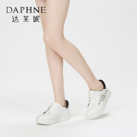 Daphne/达芙妮 春秋休闲系带平底布洛克女鞋