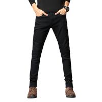 牛仔裤男加绒加厚男士牛仔长裤宽松直筒大码弹力男裤子冬款
