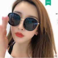 墨镜女户外新品网红同款新款圆形彩色太阳镜女士圆脸韩版潮明星款眼镜时尚新款