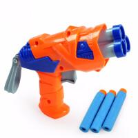 儿童橙蓝软弹玩具枪吸盘模型地摊玩具 小型玩具枪 套餐二