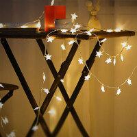 韩式温馨房间装饰灯满天星LED星星灯圣诞节日生日聚会布置用小彩灯节庆灯饰