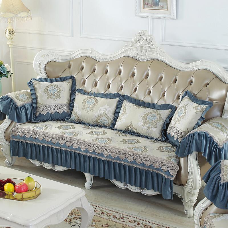 欧式沙发垫四季通用布艺贵妃沙发套全包123组合
