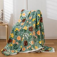 冬季毛毯云貂绒毯子珊瑚绒学生宿舍冬用加厚保暖床单人午睡小被子法兰绒毯子