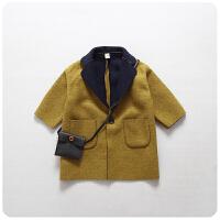 童装秋冬韩版女童纯色外套气质范儿童半袖外套上衣177107