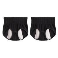 2条生理内裤女经期前后防漏纯棉裆中高腰月经神器例假神器姨妈安全裤
