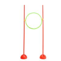 足球训练组合架 网球训练障碍组合 多功能训练障碍 钻圈篮球训练 套装(2个花口注水底座+2个1.5米杆+1个50c