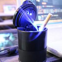 汽车烟灰缸 烟灰缸 4S店烟灰缸 带LED灯 车载烟灰缸