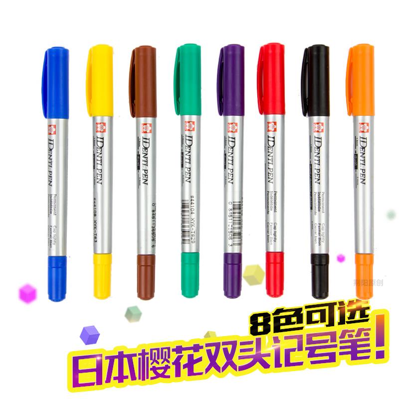 日本SAKURA樱花油性小双头记号笔 彩色勾线笔标记笔CD光盘笔 双头记号笔 笔幅为0.4 mm-1.0 mm