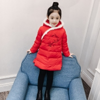 儿童棉衣2018新款唐装冬季中长款外套棉袄民族风旗袍厚款女孩