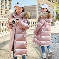 儿童羽绒服女童长款女大童中大童冬装宝宝外套
