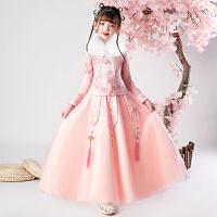 儿童汉服女秋冬古装中国风唐装超仙过年拜年服