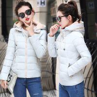 韩观冬装2018新款棉衣女短款韩版修身羽绒小棉袄学生加厚外套 M 80-100斤左右