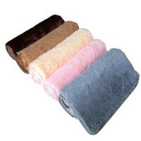 普润 丝毛加厚地毯客厅地毯沙发茶几地毯卧室床边毯满铺地毯榻榻米地垫40*60cm 咖啡色