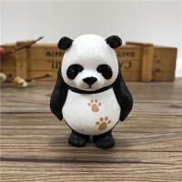 可爱简约熊猫公仔摆件家居办公桌饰品送友人四川成都旅游纪念礼品