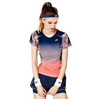 羽毛球服套装秋冬款情侣款短袖T恤球服 修身显瘦网球服套装团队服