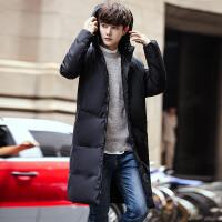 冬季中长款棉衣男韩版修身青少年棉袄加厚大码外套潮