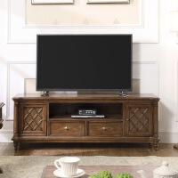 【一件3折】美式古典实木电视柜组合 客厅实木储物地柜子大户型