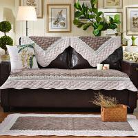高档客厅四季 现代简约欧式真皮沙发垫布艺沙发巾套罩 加厚防滑