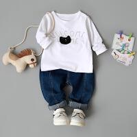 童装春装长袖T恤0-1-2-3-4岁婴儿上衣春秋男童婴幼儿女童