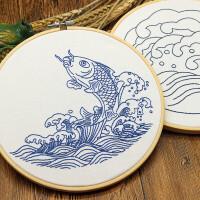 diy材料包布艺手工制作刺绣材料包艺术中国风鱼新手简单