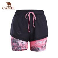 camel骆驼运动裤 春夏女款透气针织裤运动休闲短裤女