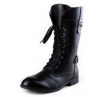2015秋冬季美军作战靴军靴男士中筒短靴韩版潮流高帮男靴马丁靴牛仔皮靴 增高靴