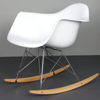 椅子实木现代简约休闲懒人躺椅伊姆斯塑料宿舍榻榻米北欧卧室摇椅