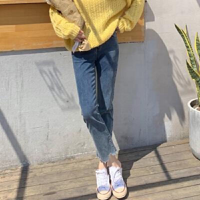 [直降]唐狮冬装新款牛仔裤女修身百搭显瘦铅笔裤韩版ins潮流学生 全场1件1折起叠加300-50,仅限3.3-3.5