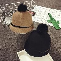 儿童帽子秋冬羊毛马术帽男女宝宝帽子棒球帽保暖鸭舌贝雷帽韩版潮