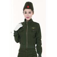 户外迷彩服套装女秋3件套水兵舞蹈服长裤军训迷彩服军迷用品