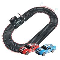 儿童轨道赛车小汽车玩具孩子手摇电动遥控赛车赛道玩具