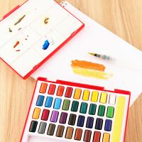 固体水彩颜料套装水溶水彩画初学者用套装24色固彩