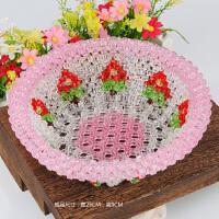 水果盘糖果盘糖果盒手工串珠diy饰品材料包 编织精美礼物仙桃果盘