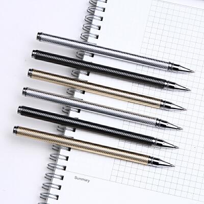 【下单领3元无门槛券】至尚创美 0.5mm碳黑单支装金属中性笔 学习办公两用中性笔水笔签字笔单支装 书写顺滑