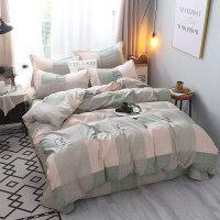 磨毛四件套裸睡套件床上4件套1.8m学生宿舍床单被套四件套