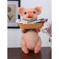 客厅创意家居装饰品摆件可爱猪室内房间电视柜酒柜工艺品家装摆设