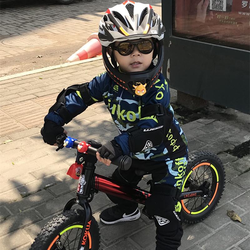 定制春夏平衡车儿童骑行服长袖套装自行山地单车服男女赛车轮滑服 墨绿色 8 发货周期:一般在付款后2-90天左右发货,具体发货时间请以与客服协商的时间为准